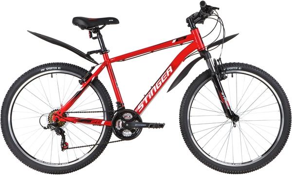 """139821 2 - Велосипед Stinger CAIMAN, р.18, цвет Красный, 2020г., колеса 26"""""""