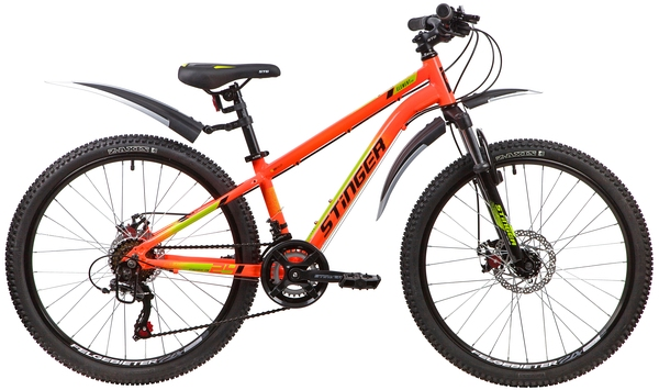 """139826 2 - Велосипед Stinger ELEMENT EVO, р.12, цвет Оранжевый, 2020г., колеса 24"""""""