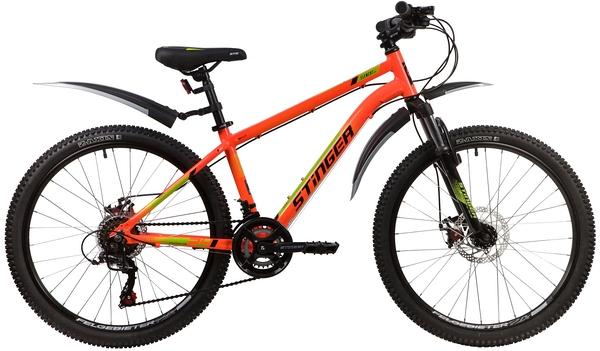 """139827 2 - Велосипед Stinger ELEMENT EVO, р.14, цвет Оранжевый, 2020г., колеса 24"""""""
