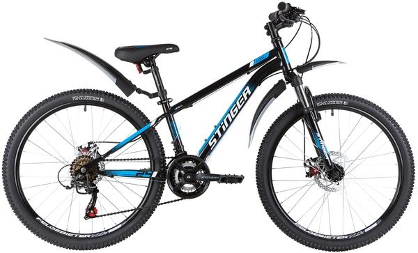 """139832 2 - Велосипед Stinger CAIMAN D, р.12, цвет чёрный, 2020г., колеса 24"""""""