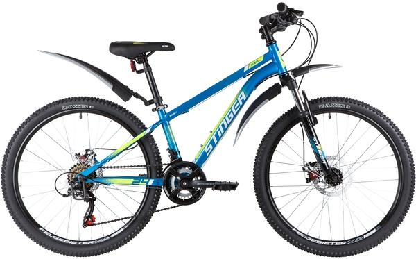 """139833 2 - Велосипед Stinger CAIMAN D, р.12, цвет Синий, 2020г., колеса 24"""""""