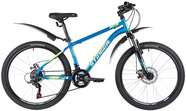 """139834 2 - Велосипед Stinger CAIMAN D, р.14, цвет Синий, 2020г., колеса 24"""""""