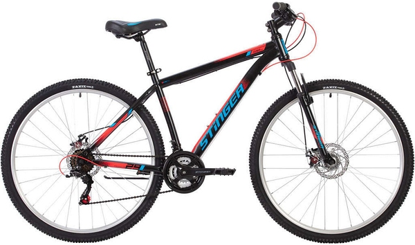 """139998 2 - Велосипед Stinger CAIMAN D, р.22, цвет чёрный, 2020г., колеса 29"""""""