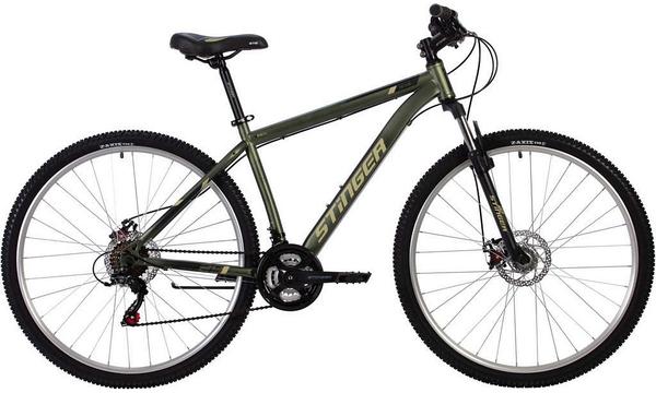 """140000 2 - Велосипед Stinger CAIMAN D, р.18, цвет Зеленый, 2020г., колеса 29"""""""