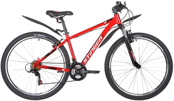 """140005 2 - Велосипед Stinger CAIMAN, р.20, цвет Красный, 2020г., колеса 27"""""""