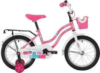 """140626 2 350x256 - Велосипед NOVATRACK TETRIS, Детский, р. 8,5"""", колеса 12"""", цвет Розовый, 2020г."""