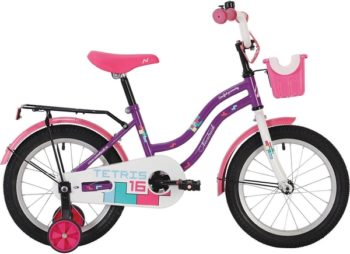 """140627 2 350x254 - Велосипед NOVATRACK TETRIS, Детский, р. 8,5"""", колеса 12"""", цвет Фиолетовый, 2020г."""