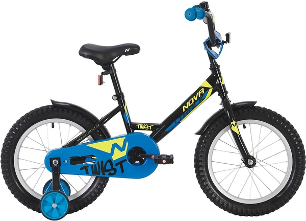 """140632 2 - Велосипед NOVATRACK TWIST, Детский, р. 8,5"""", колеса 12"""", цвет Черный, 2020г."""