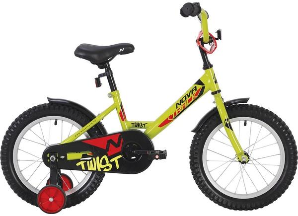 """140633 2 - Велосипед NOVATRACK TWIST, Детский, р. 8,5"""", колеса 12"""", цвет Зеленый, 2020г."""