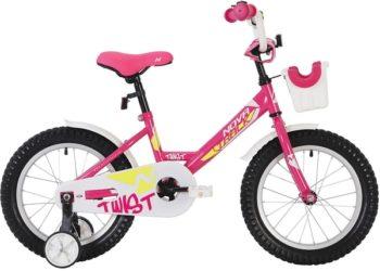"""140635 2 350x250 - Велосипед NOVATRACK TWIST, Детский, р. 8,5"""", колеса 12"""", цвет Розовый, 2020г."""