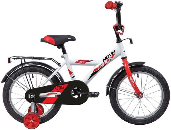"""140644 2 - Велосипед NOVATRACK ASTRA, Детский, р. 8,5"""", колеса 12"""", цвет Белый, 2020г."""
