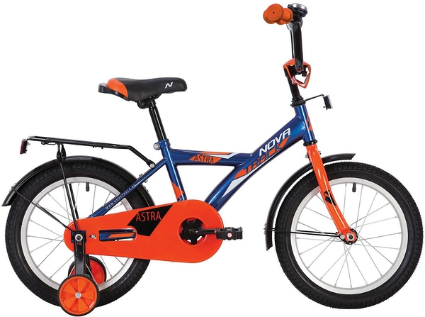"""140646 2 - Велосипед NOVATRACK ASTRA, Детский, р. 8,5"""", колеса 12"""", цвет Синий, 2020г."""