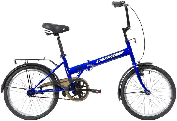 """140673 2 - Велосипед NOVATRACK TG301, Складной, р. 14"""", колеса 20"""", цвет Синий, 2020г."""