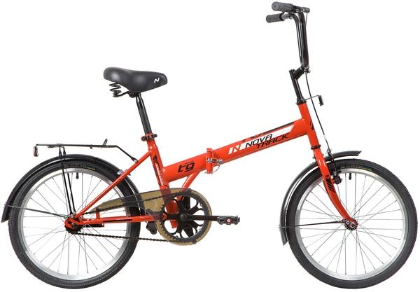 """140674 2 - Велосипед NOVATRACK TG301, Складной, р. 14"""", колеса 20"""", цвет Красный, 2020г."""