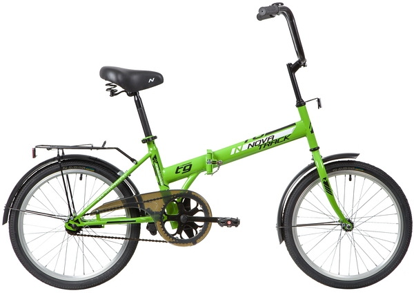 """140675 2 - Велосипед NOVATRACK TG301, Складной, р. 14"""", колеса 20"""", цвет Зеленый, 2020г."""
