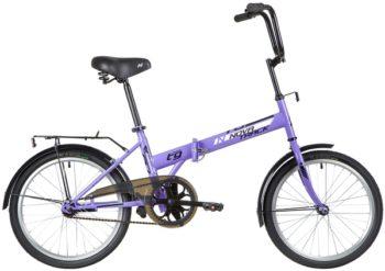 """140676 2 350x247 - Велосипед NOVATRACK TG301, Складной, р. 14"""", колеса 20"""", цвет Фиолетовый, 2020г."""
