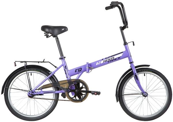 """140676 2 - Велосипед NOVATRACK TG301, Складной, р. 14"""", колеса 20"""", цвет Фиолетовый, 2020г."""
