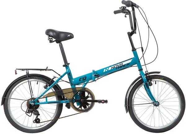 """140677 2 - Велосипед NOVATRACK FS306, Складной, р. 14"""", колеса 20"""", цвет Синий, 2020г."""