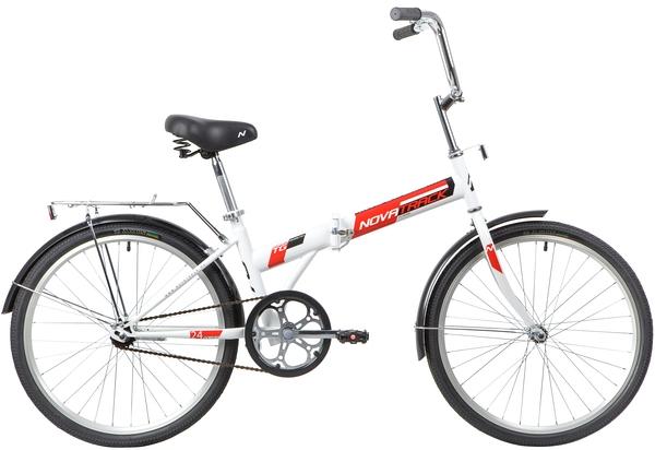"""140685 2 - Велосипед NOVATRACK TG1, Складной, р. 14,5"""", колеса 24"""", цвет Белый, 2020г."""