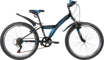 """140689 2 350x204 - Велосипед NOVATRACK RACER, Скоростной, р. 12"""", колеса 24"""", цвет Черный, 2020г."""