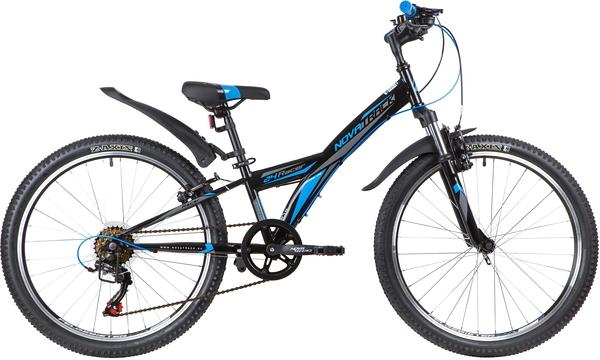 """140691 2 - Велосипед NOVATRACK RACER, Скоростной, р. 10"""", колеса 24"""", цвет Черный, 2020г."""