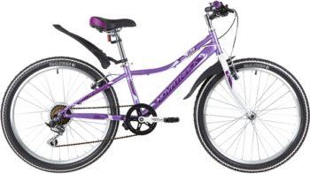 """140692 2 350x197 - Велосипед NOVATRACK ALICE, Скоростной, р. 12"""", колеса 24"""", цвет Лиловый, 2020г."""