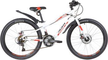 """140696 2 350x193 - Велосипед NOVATRACK PRIME, Скоростной, р. 11"""", колеса 24"""", цвет Белый, 2020г."""