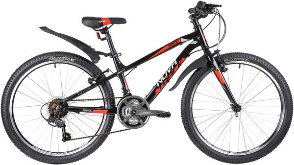"""140697 2 - Велосипед NOVATRACK PRIME, Скоростной, р. 13"""", колеса 24"""", цвет Черный, 2020г."""