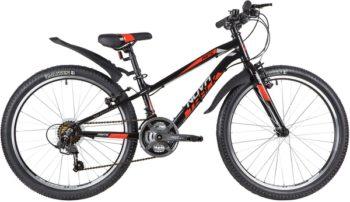 """140698 2 350x202 - Велосипед NOVATRACK PRIME, Скоростной, р. 11"""", колеса 24"""", цвет Черный, 2020г."""