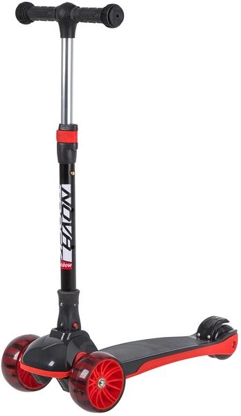 141026 2 - Самокат Novatrack RAINBOW Basic Black, Кикборд, цвет: красный, год 2020, артикул: 120BB.RAINBOW.BRD20