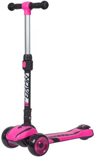 141041 2 - Самокат Novatrack RAINBOW CAR GIRL PRO, Кикборд, цвет: розовый, год 2020, артикул: 120CGP.RAINBOW.PN20