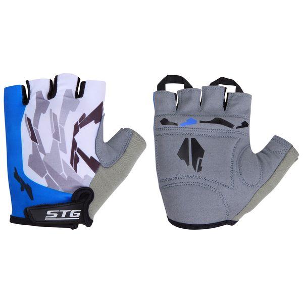 099908 2 - Перчатки STG летние быстросъемные с защитной прокладкой,застежка на липучке,материал-кожа+лайкра