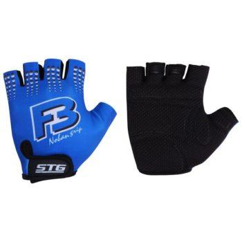 099909 2 350x350 - Перчатки STG летние с защитной прокладкой,застежка на липучке,материал-кожа+лайкра,размер M,синие