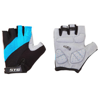 099917 2 350x350 - Перчатки STG летние с защитной гелевой прокладкой,застежка на липучке,мат.кожа+лайкра,размер С