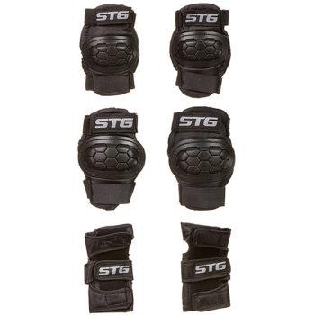 120246 2 350x350 - Защита детская STG YX-0303 комплект: наколенники, налокотник, защита кисти.черная, размер S