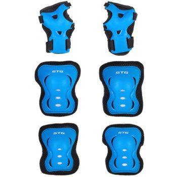 120248 2 350x350 - Защита детская STG YX-0317 комплект: наколенники, налокотник, защита кисти.синяя , размер S