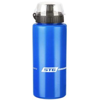 120256 2 350x350 - Велофляга STG  DC-BT-54 600мл с защитной крышкой синяя/белая