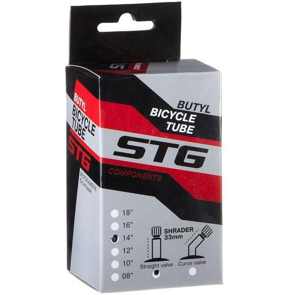 120330 2 - Камера велосипедная STG, бутил,14Х1,75 ,автониппель 33мм (упак.: коробка)
