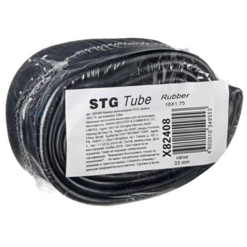 120333 2 350x350 - Камера велосипедная STG, резина,18Х1,75 ,автониппель 33мм  (упак.: вакум. пакет)