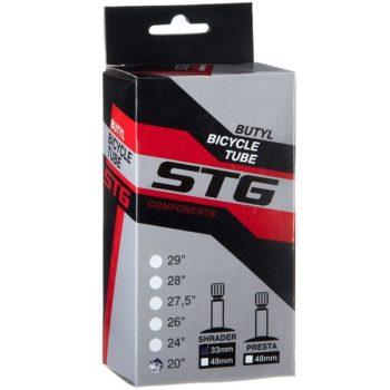120336 2 350x350 - Камера велосипедная STG, бутил,20Х1,75/1,95 ,автониппель 33мм (упак.: коробка)