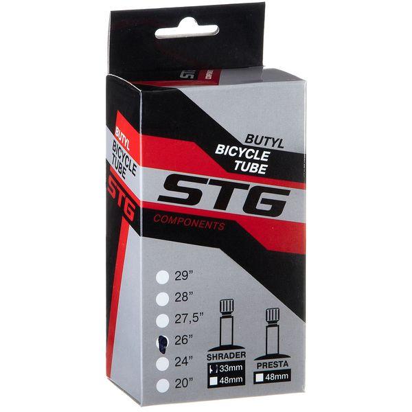 120343 2 - Камера велосипедная STG, бутил ,26Х1,75/1,95, автониппель 33мм (упак.: коробка)