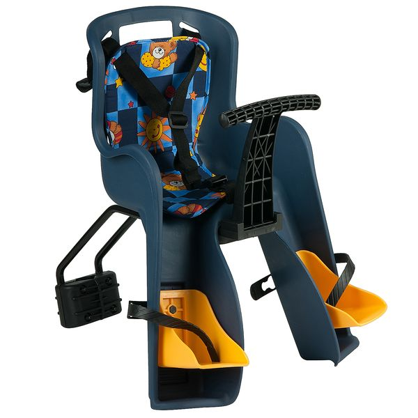 120387 2 - Кресло детское переднее GH-908E синие, с разноцветным текстилем