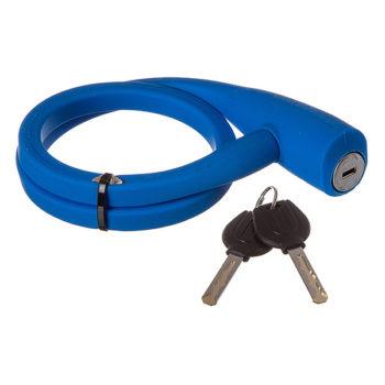 126980 2 350x350 - Замок STG TY4538, трос ,на ключе, диам.12х60см, силикон. Оплетка, синий