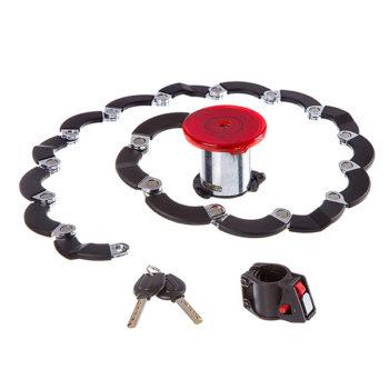 126983 2 350x350 - Замок STG TY3873, каркасный-складной ,на ключе, диам.79*60,5мм,крепеж под седло,  черный