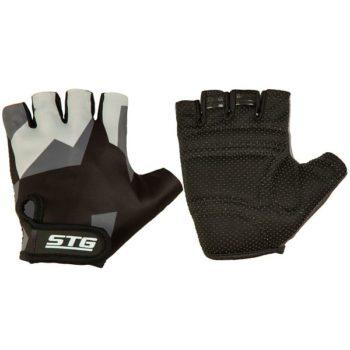 127237 2 350x350 - Перчатки STG летние с защитной прокладкой,застежка на липучке,размер L,серо/черные