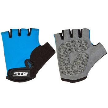 127241 2 350x350 - Перчатки STG детск.летние с защитной прокладкой,застежка на липучке, размер S,синие