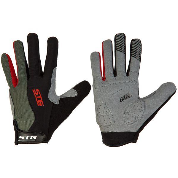 127244 2 - Перчатки STG с длинными пальцами и защитн.прокладкой,застежка на липучке,размер M