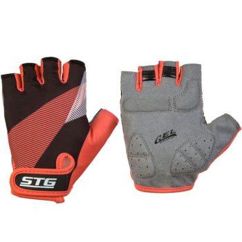 127265 2 350x350 - Перчатки STG летние с защитной прокладкой,застежка на липучке,размер С,черн/красный