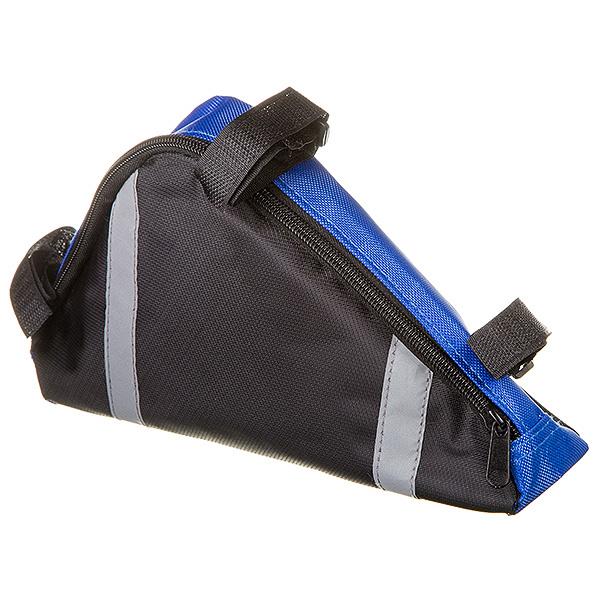 127267 2 - Велосумка STG мод. 12490 разм. L под раму,треугольная ,черная/серая .