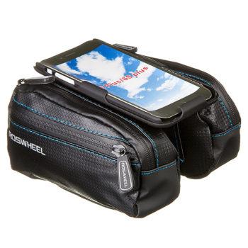 127269 2 350x350 - Велосумка STG мод. 121273-TY разм. M на  раму,с крепежом для телефона, 2-а отделения,черная.